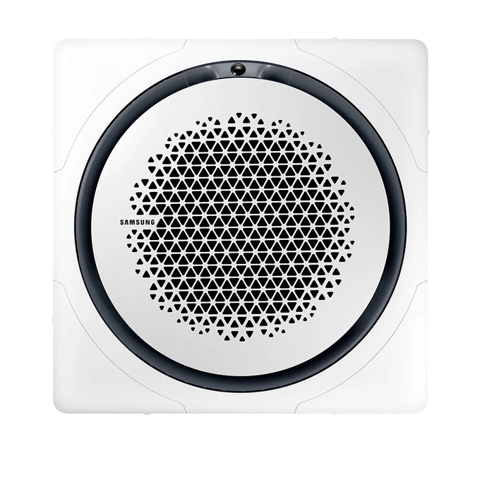evaporadora-cassete-frente-samsung-com-painel-quadrado-poloar