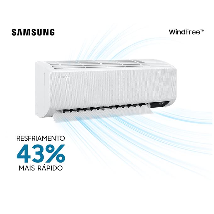 evaporadora-resfriamento-9k-hi-wall-samsung-wind-free-new-poloar