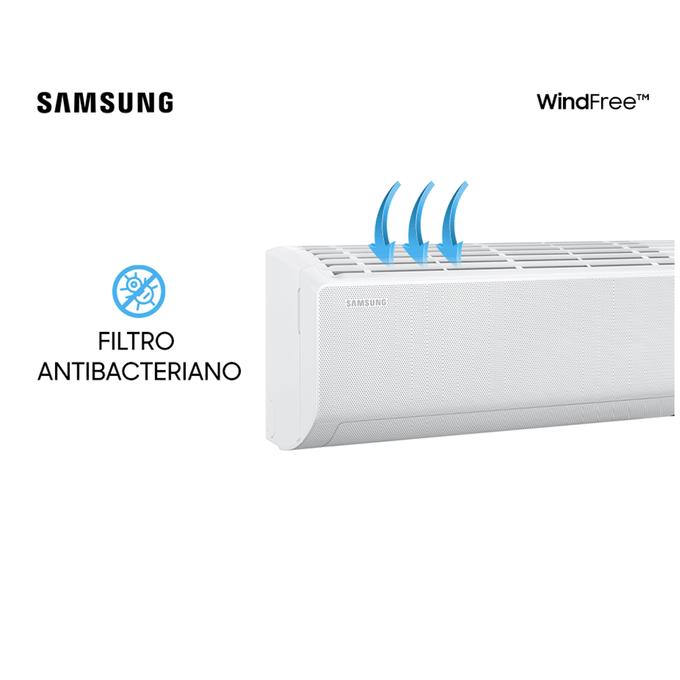 evaporadora-filtro-9k-hi-wall-samsung-wind-free-new-poloar